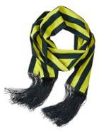 Banana Republic Rugby Stripe Fringe Scarf Size One Size - Green