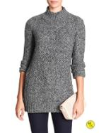 Banana Republic Factory Marled Mock Neck Sweater Size L - Black
