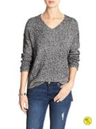 Banana Republic Factory Hi Lo Vee Sweater Size L - Black
