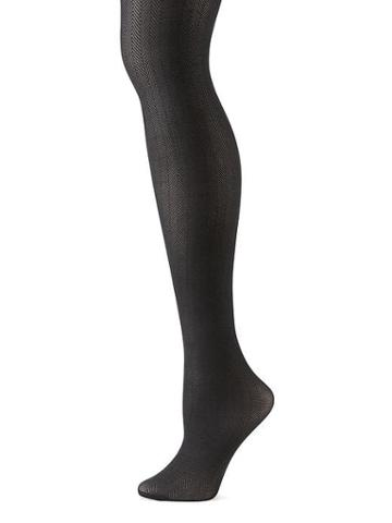 Banana Republic Herringbone Tights - Black