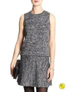Banana Republic Factory Sleeveless Space Dye Top Size L - Light Gray Heather