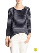 Banana Republic Factory Stripe Pocket Tee Size L - Tapestry Navy
