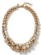 Banana Republic Sparkle Chandelier Necklace Size One Size - Clear Crystal