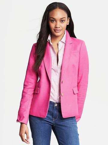 Banana Republic Gold Button Blazer - Flirty Pink