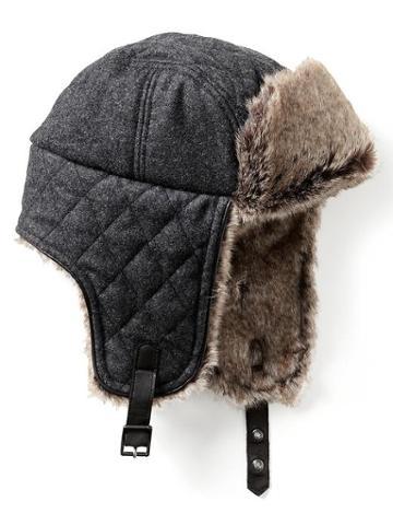 Banana Republic Faux Fur Lined Trapper Hat