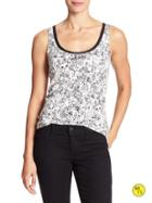 Banana Republic Factory Luxe Trim Print Tank Size L - Black