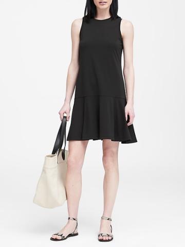 Banana Republic Petite Knit Drop Waist Dress