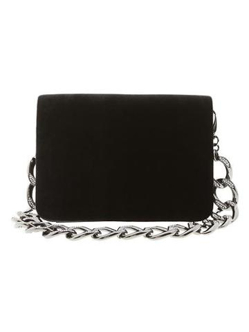 Banana Republic L'wren Scott Collection Velvet Clutch - Black