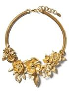 Banana Republic Womens Elizabeth Cole   Golden Glow Floral Necklace Gold Size One Size