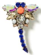 Banana Republic Jeweled Dragonfly Brooch Size One Size - Blue
