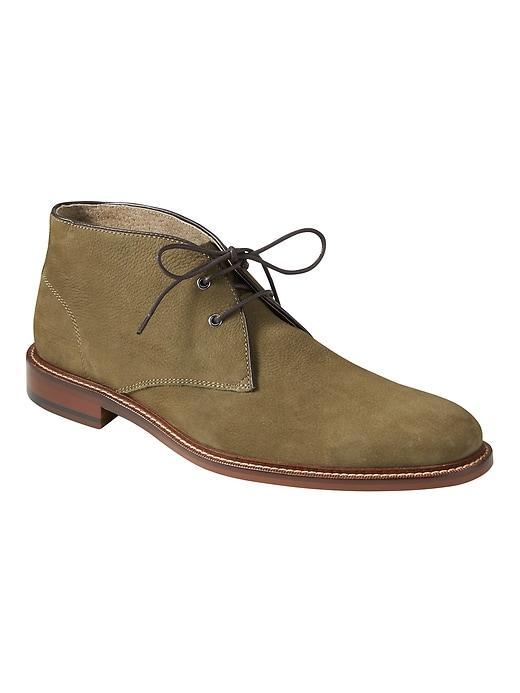 Banana Republic Mens Norman Leather Chukka Boot Olive Size 9
