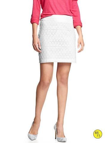 Banana Republic Factory Lace Mini Skirt - White