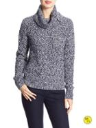 Banana Republic Factory Cowl Neck Sweater Size L - Fall Navy