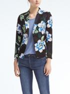 Banana Republic Floral Blazer - Black