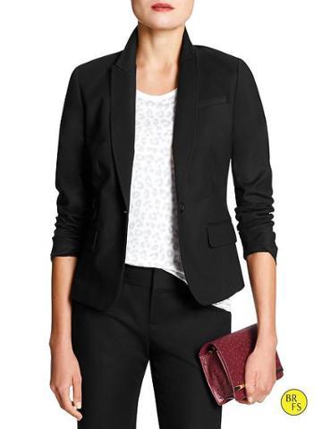 Banana Republic Factory Sleek Blazer - Black