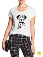 Banana Republic Womens Factory Dalmatian Graphic Tee White Size L