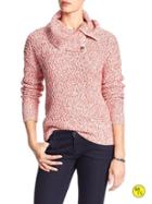 Banana Republic Factory Cowl Neck Sweater Size L - Spiced Coral