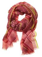Banana Republic Moroccan Tile Scarf Size One Size - Red Glow