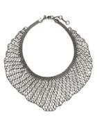 Banana Republic Riviera Mesh Statement Necklace Size One Size - Silver