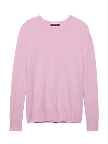 Banana Republic Womens Cashmere Crew-neck Sweater Lilac Blush Pink Size S