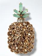 Banana Republic Pineapple Brooch - Gold
