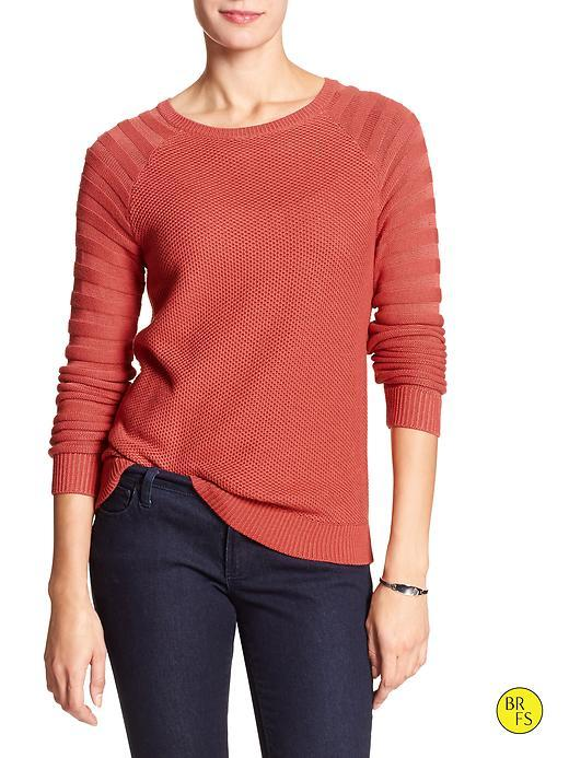 Banana Republic Factory Mixed Stitch Sweater Size L - Spiced Coral