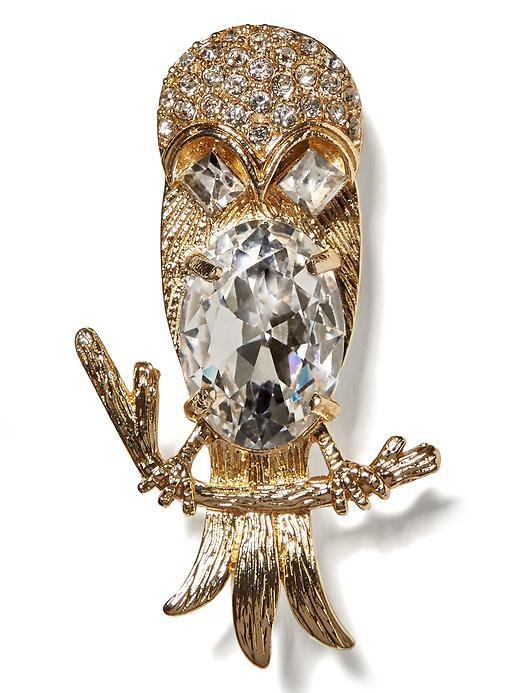 Banana Republic Owl Brooch Size One Size - Gold