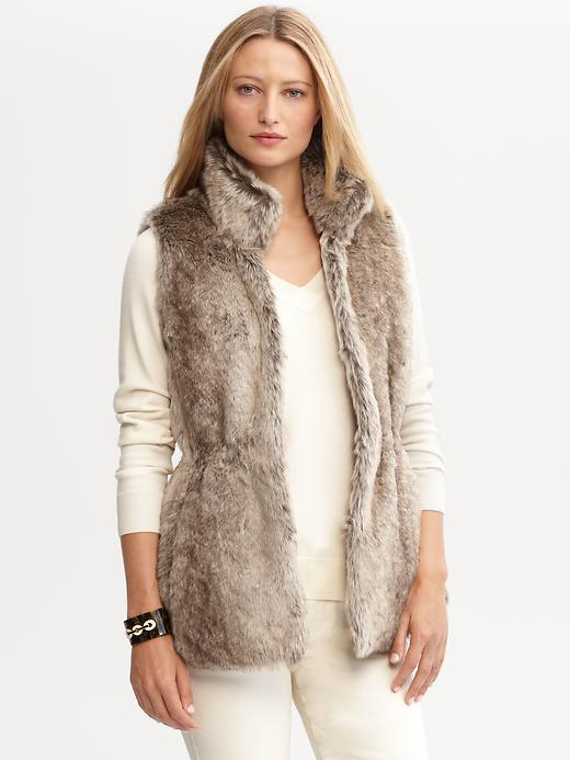 Banana Republic Faux Fur Vest