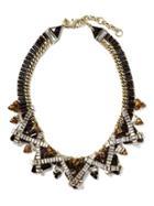 Banana Republic Dark Geo Focal Necklace - Black