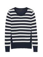 Banana Republic Petite Silk Cotton Stripe Sweater