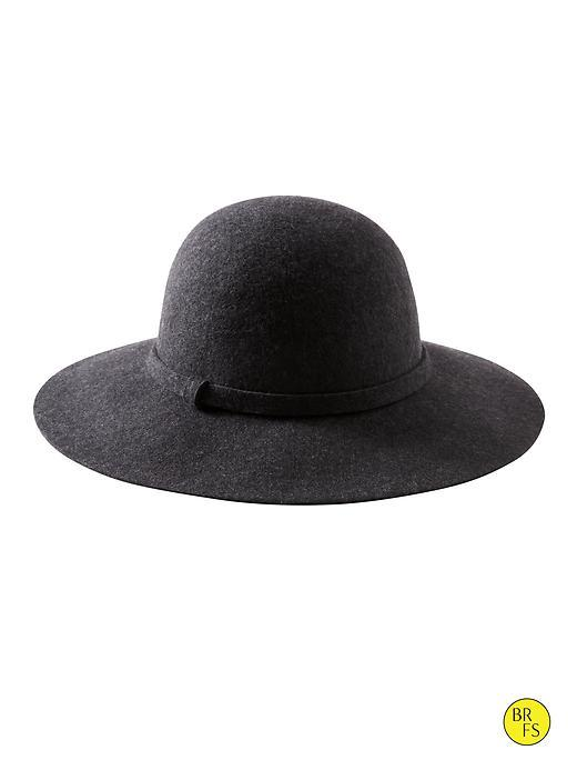 Banana Republic Factory Felt Hat Size M/l - Charcoal Heather