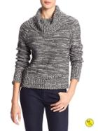 Banana Republic Factory Marled Cowl Neck Sweater Size L - Heather Gray