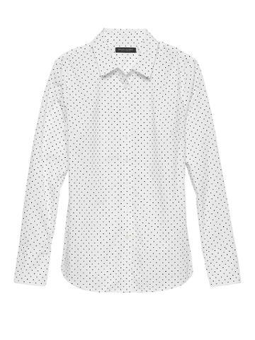 Banana Republic Petite Riley Tailored-fit Polka Dot Shirt