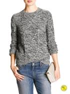 Banana Republic Factory Cable Knit Sweater - Black