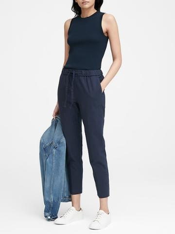 Banana Republic Hayden Tapered-fit Linen-cotton Ankle Pant