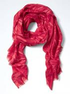 Banana Republic Rectangle Jacquard Scarf - Red
