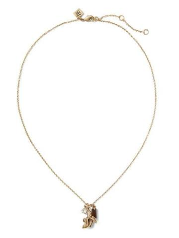 Banana Republic Banana Pendant Necklace - Gold