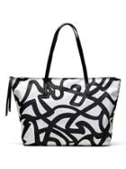 Banana Republic Womens Nylon Tote Size One Size - Black/white