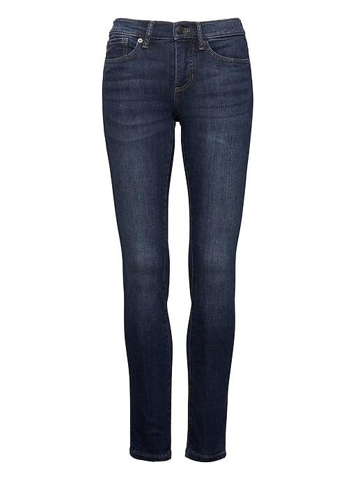 Banana Republic Womens Slim-straight Dark Wash Jean Dark Indigo Size 28