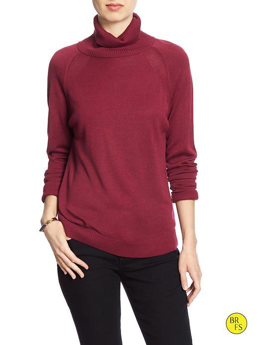 Banana Republic Factory Turtleneck Size L - Garnet