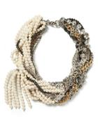 Banana Republic Mixed Up Pearl Necklace Size One Size - Mixed Metal