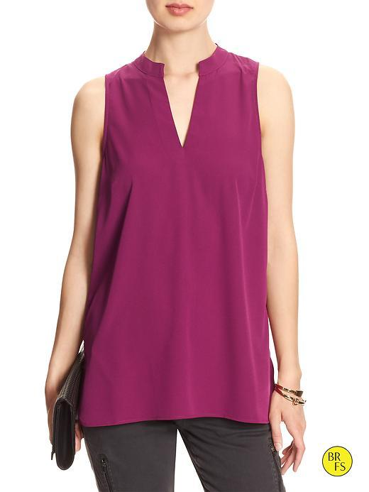 Banana Republic Womens Factory Sleeveless Popover Top Size L - Lingonberry