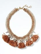 Banana Republic Raffia Statement Necklace - Tan
