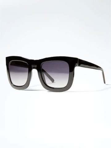Banana Republic Rectangle Sunglasses - Black