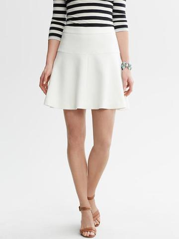 Banana Republic White Fit And Flare Skirt - Cocoon