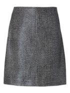 Banana Republic Womens Coated Tweed Mini Skirt - Black Tweed