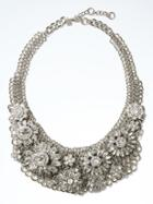 Banana Republic Womens Crystal Flower Necklace - Crystal