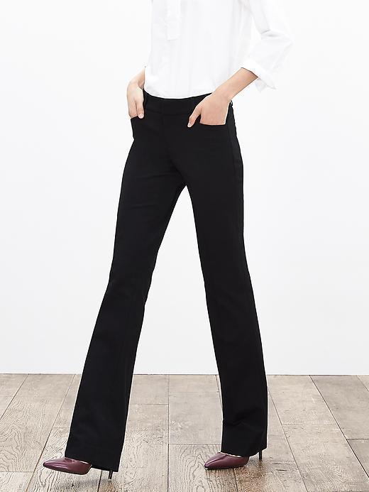 Banana Republic Womens Sloan Fit Black Trouser Size 0 Short - Black
