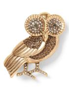 Banana Republic Womens Owl Brooch Gold Size One Size