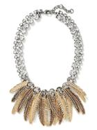 Banana Republic Feather Fringe Necklace Size One Size - Silver